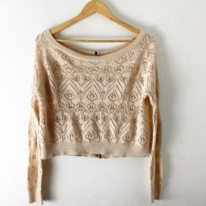 Free People Knit Zipper Sweater